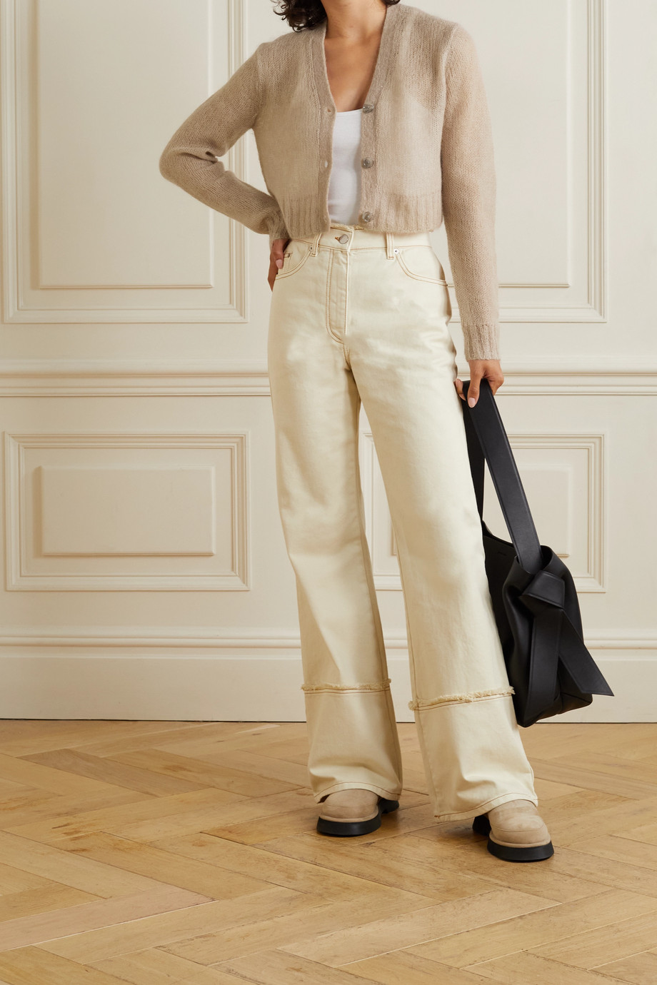 Acne Studios Cropped mohair-blend cardigan