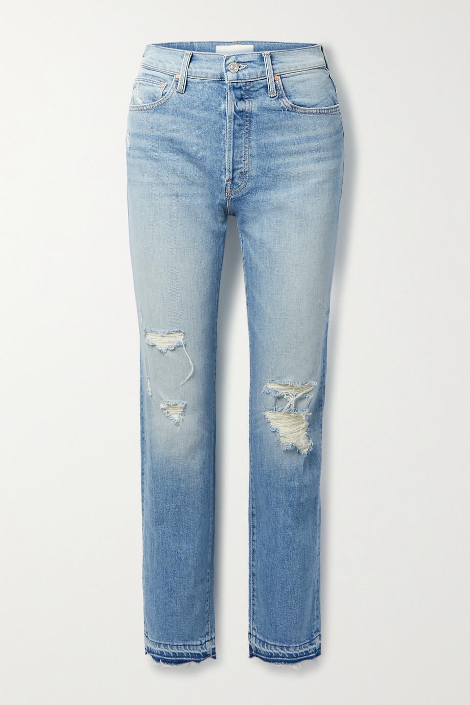 MOTHER Hiker Hover hoch sitzende Jeans mit geradem Bein und Distressed-Details
