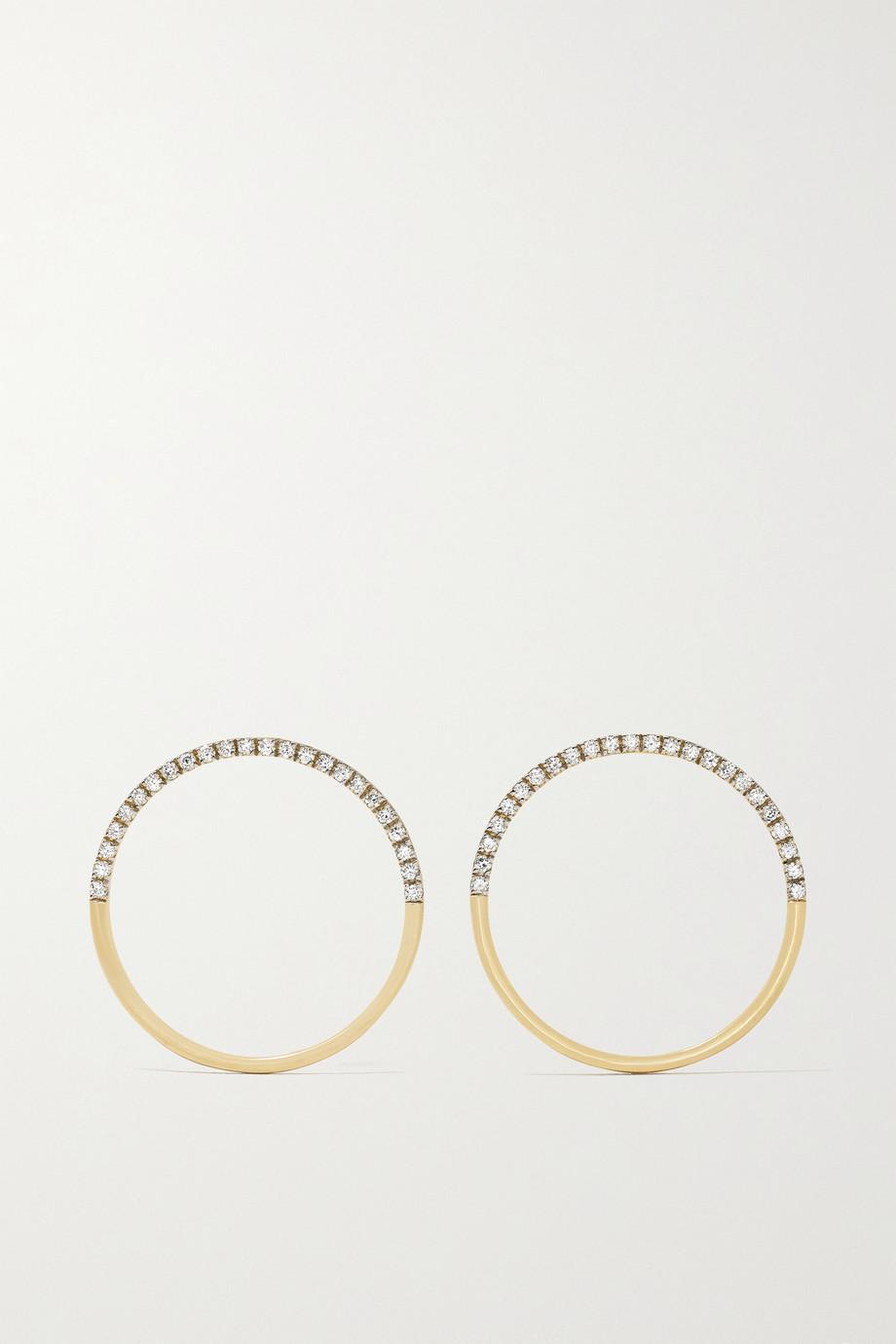 Mateo Ohrringe aus 14 Karat Gold mit Diamanten
