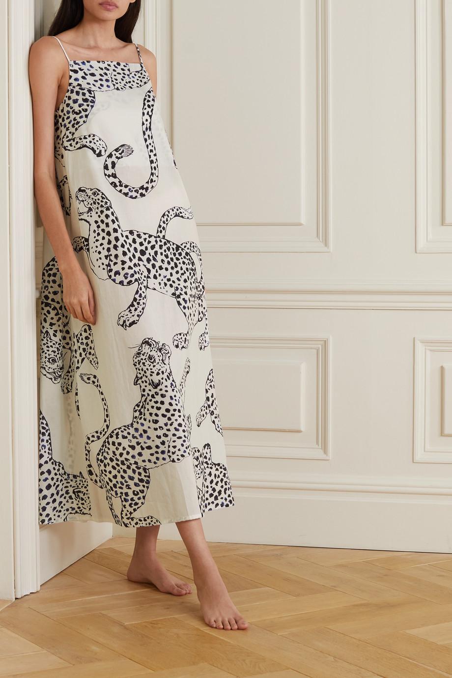 Desmond & Dempsey Printed cotton-voile nightdress