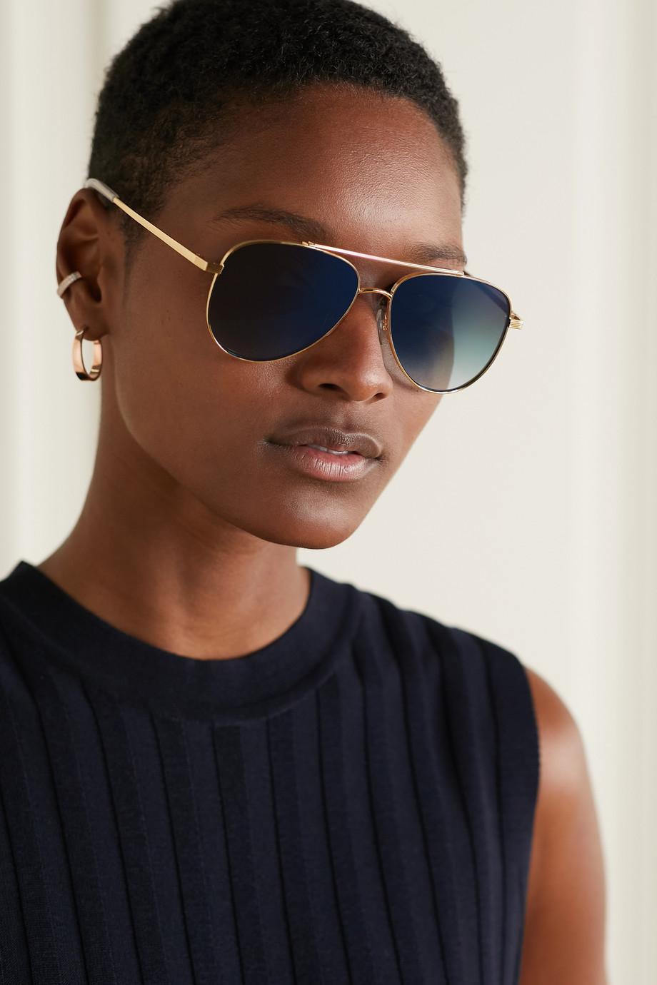 Le Specs Evermore aviator-style gold-tone sunglasses