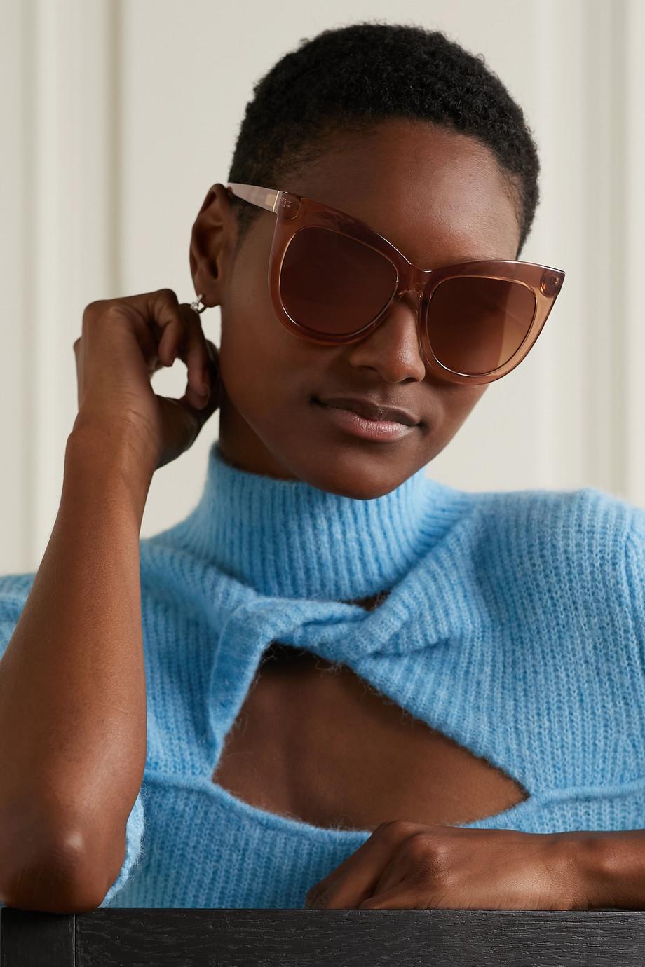 Le Specs Hidden Treasure oversized cat-eye acetate sunglasses