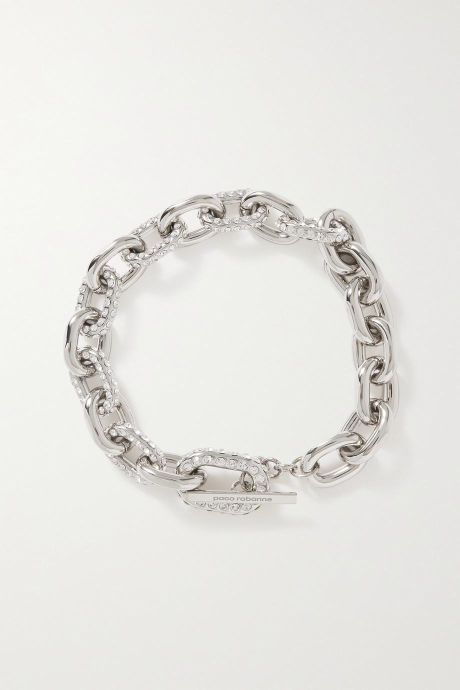 Paco Rabanne Collier en métal argenté à cristaux XL Link