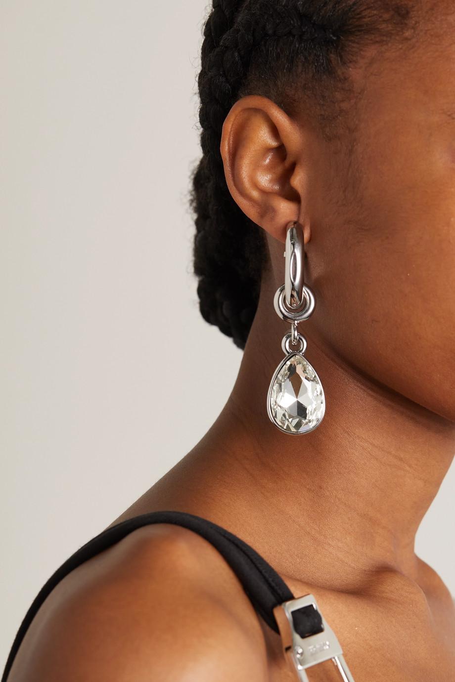 Paco Rabanne XL Link silver-tone crystal earrings