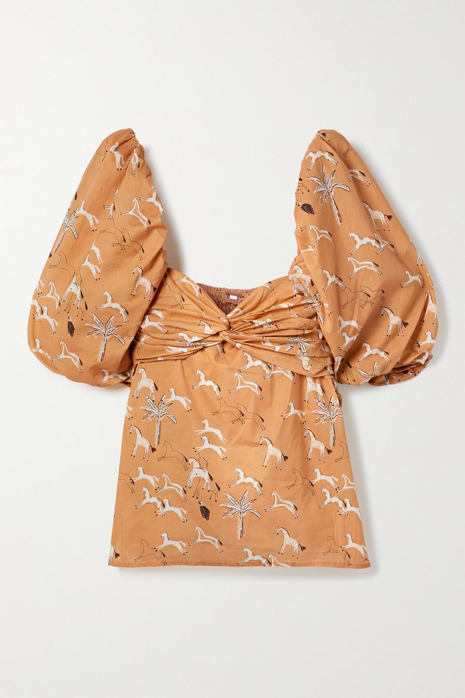 Johanna Ortiz + NET SUSTAIN Latin Gaucho printed organic cotton-poplin blouse