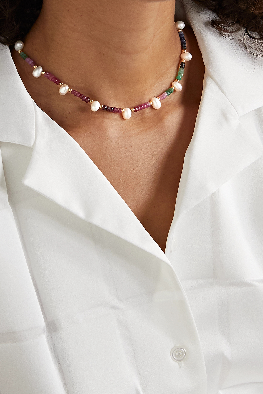 JIA JIA Collier en or, saphirs et perles Arizona