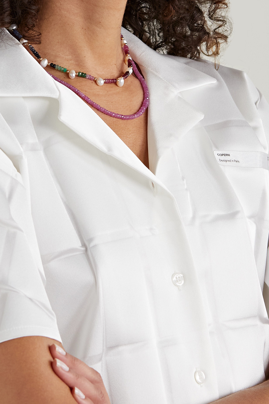 JIA JIA Arizona gold, sapphire and pearl necklace