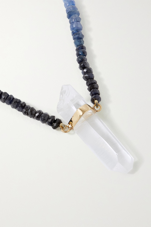 JIA JIA Collier en or, saphirs et quartz