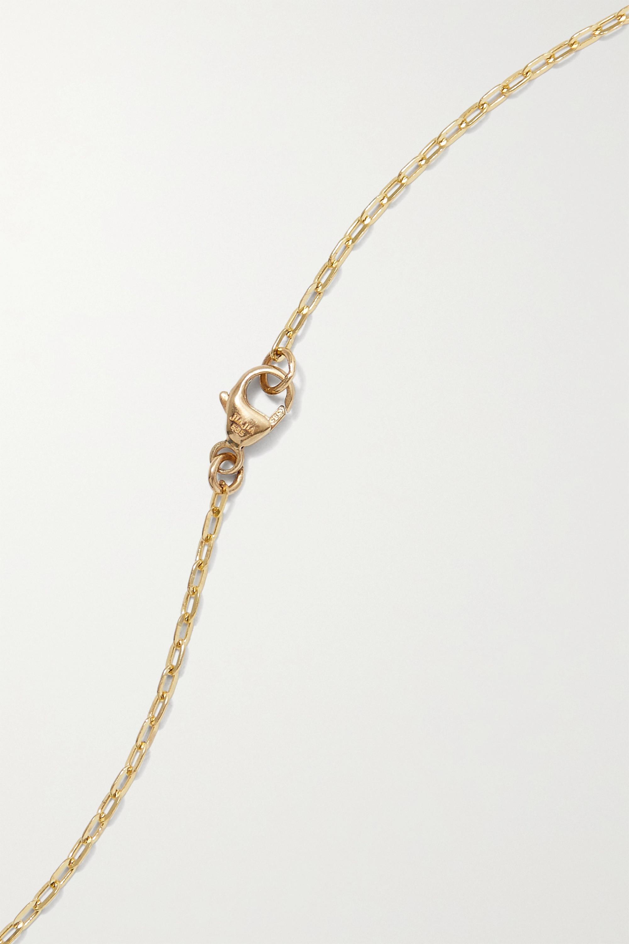 JIA JIA Kette aus 14 Karat Gold mit Quarz