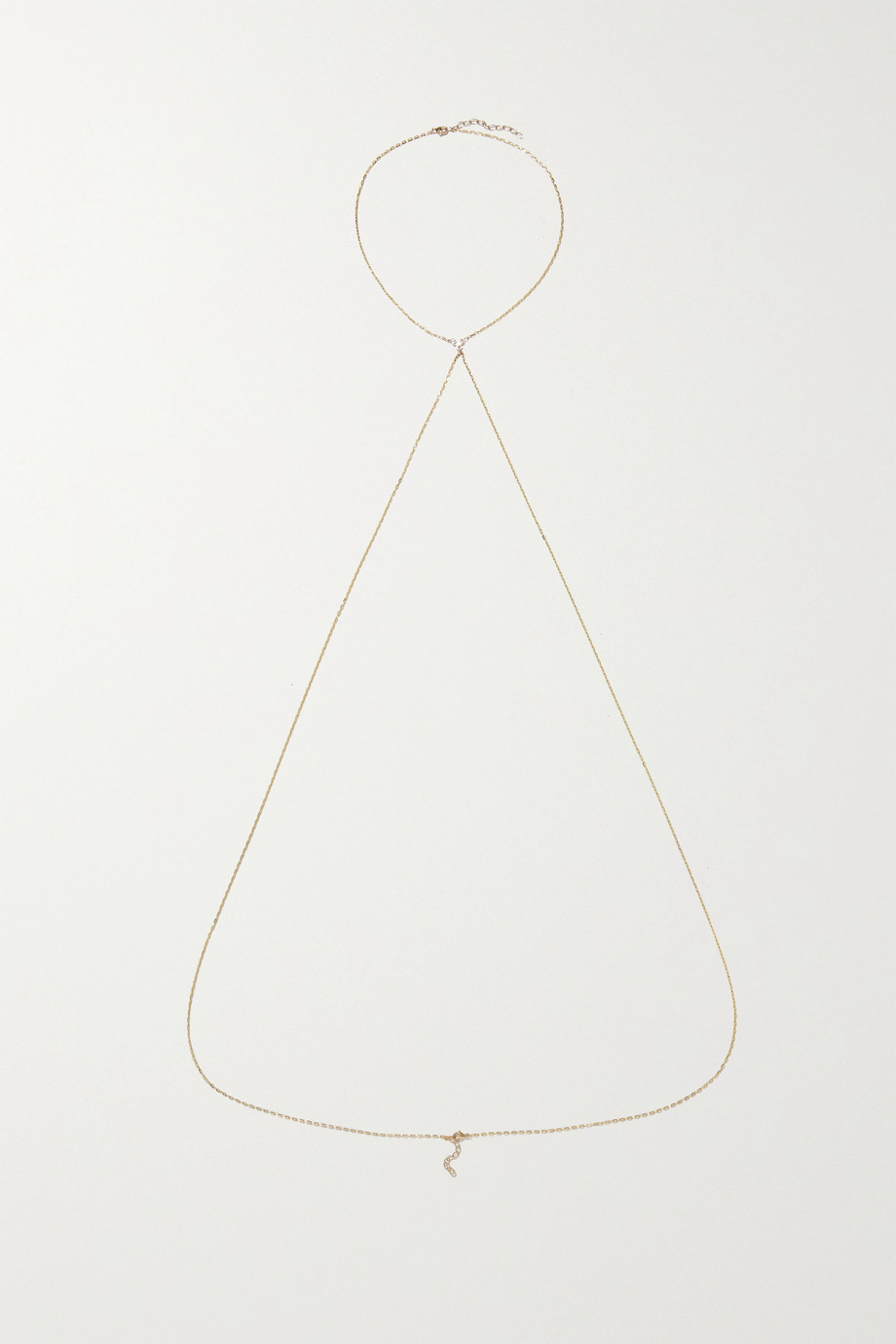 JIA JIA 14-karat gold diamond body chain