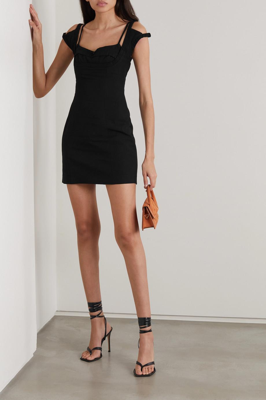 Jacquemus Kibo cutout woven mini dress
