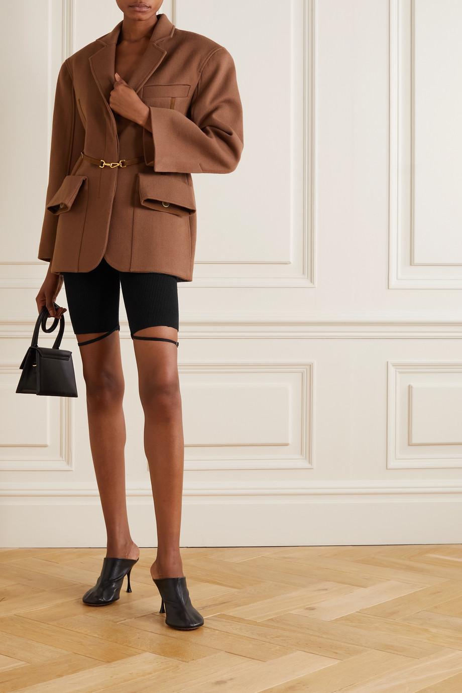 Jacquemus Sierra ribbed linen-blend shorts