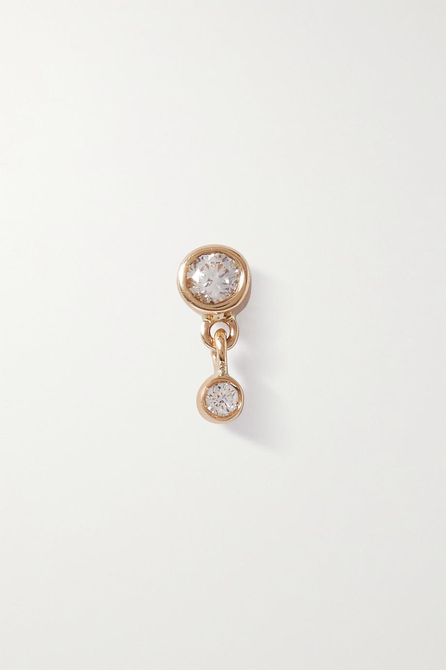 Maria Black Mini Me 14-karat gold diamond single earring