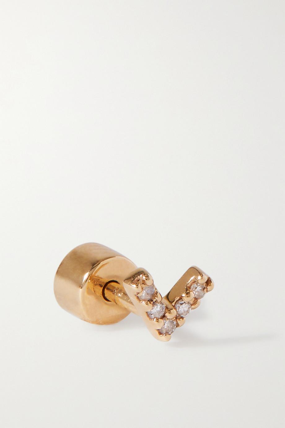 Maria Black Velvet 14-karat gold diamond single earring