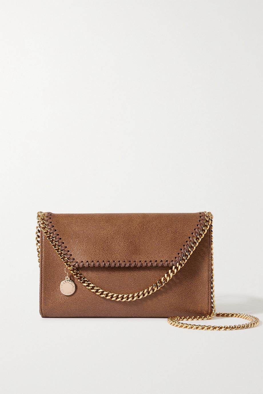 Stella McCartney The Falabella mini vegetarian brushed-leather shoulder bag
