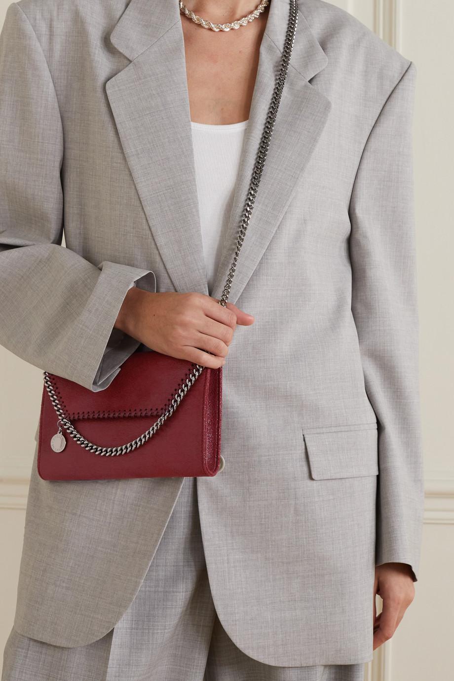 Stella McCartney The Falabella mini vegetarian textured-leather shoulder bag