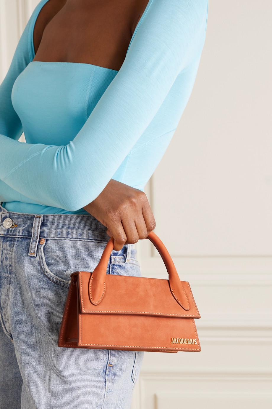 Jacquemus Le Chiquito Long suede shoulder bag