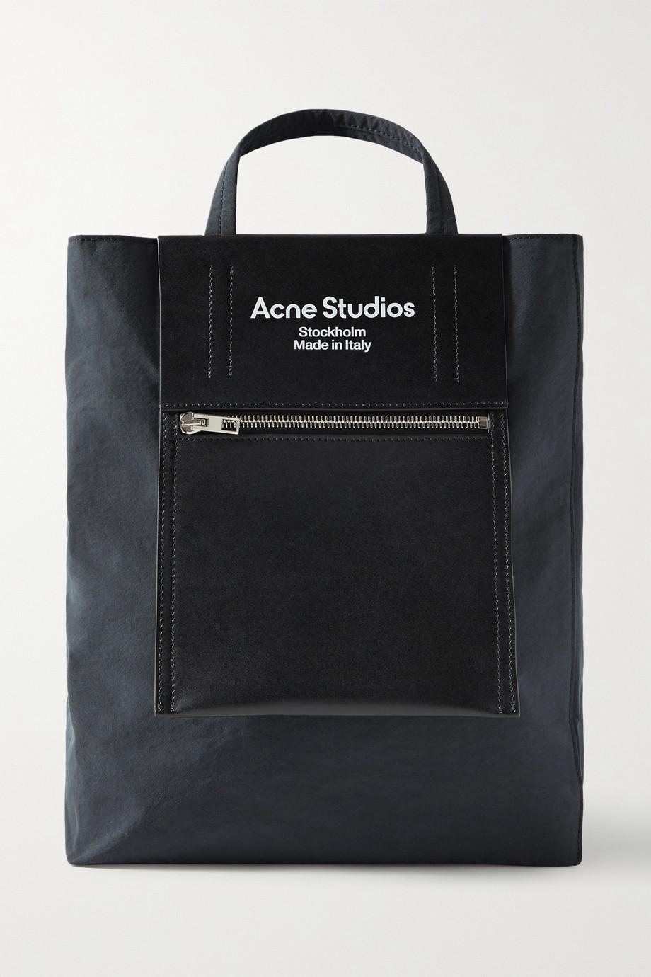 Acne Studios Sac à main en toile et en cuir imprimé Baker Out Medium