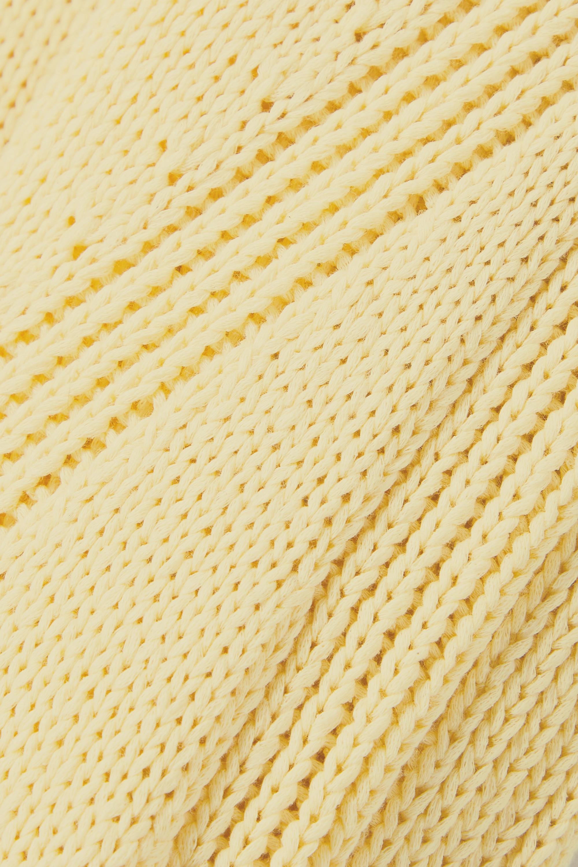 EQUIPMENT Anthemis Kleid aus einer Baumwollmischung mit Details in Pointelle-Strick