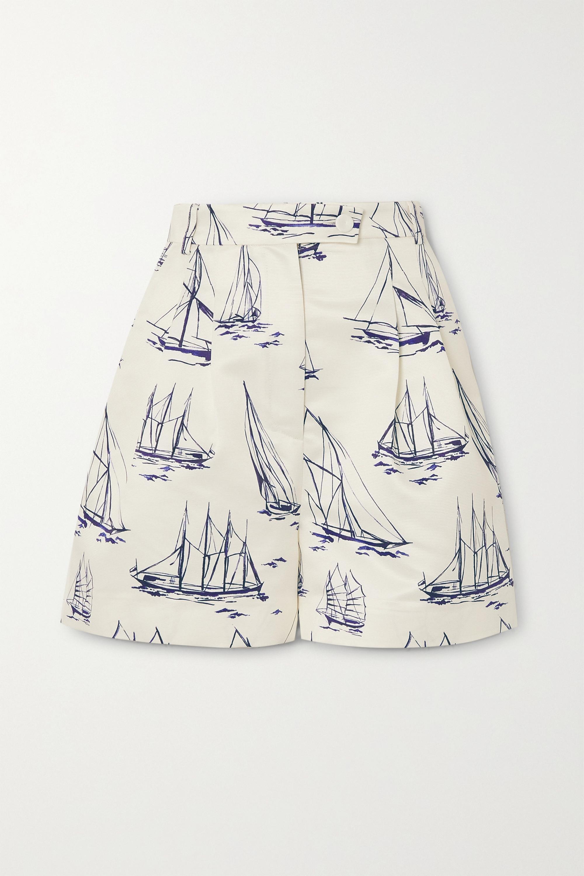 Emilia Wickstead Elliot printed faille shorts