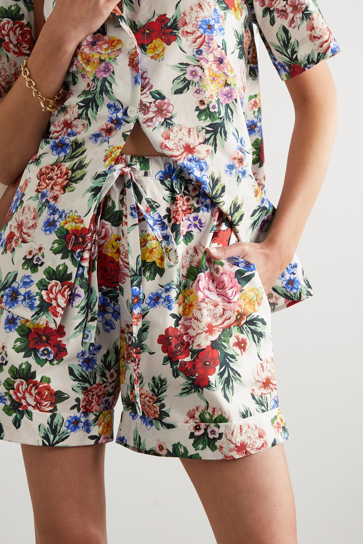 Emilia Wickstead Short en popeline de coton à imprimé fleuri Mable