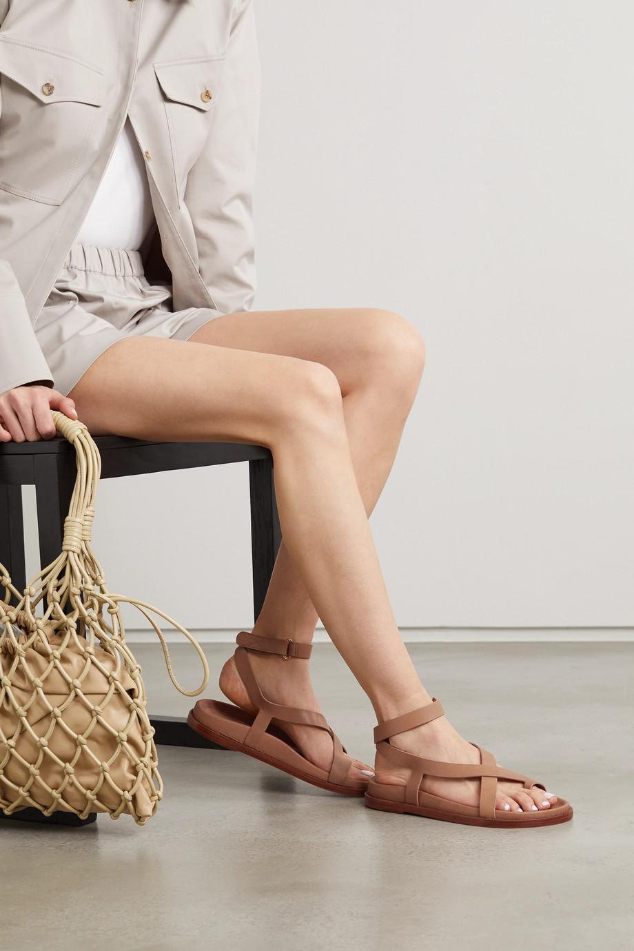 Porte & Paire + Frankie Shop leather sandals