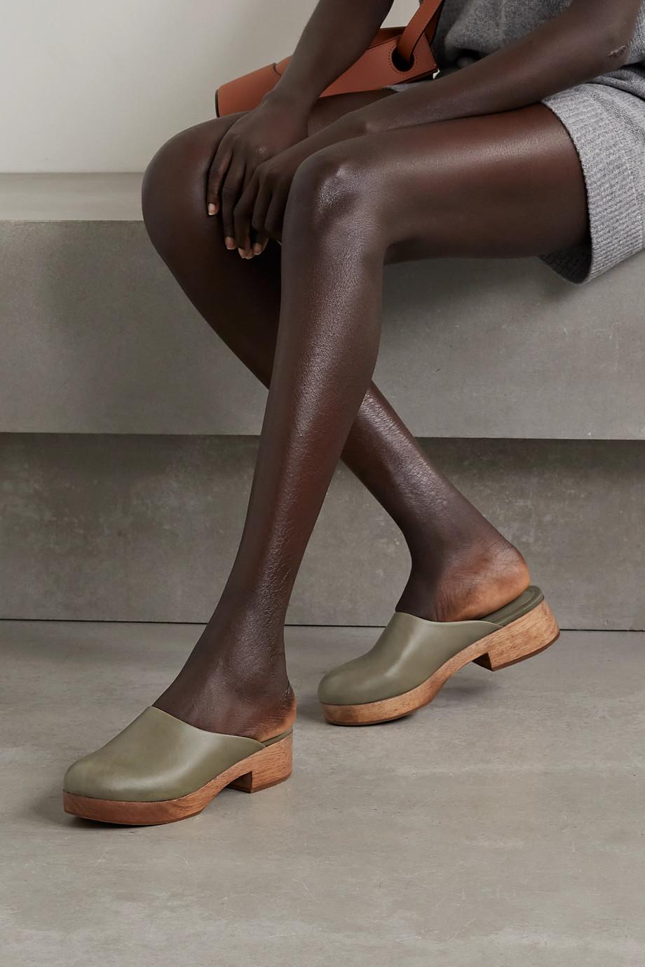 Porte & Paire + Frankie Shop leather clogs