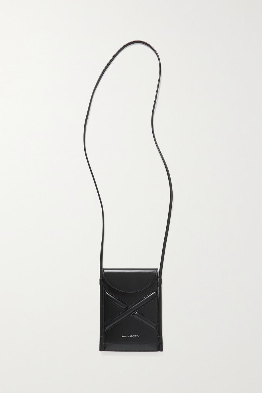 Alexander McQueen Pochette en cuir The Curve