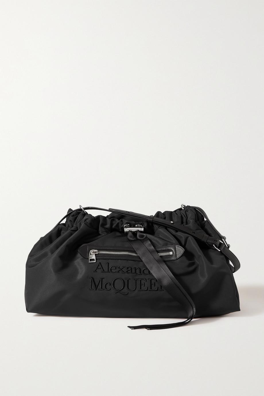 Alexander McQueen Sac porté épaule en tissu technique à finitions en cuir et à broderies The Bundle