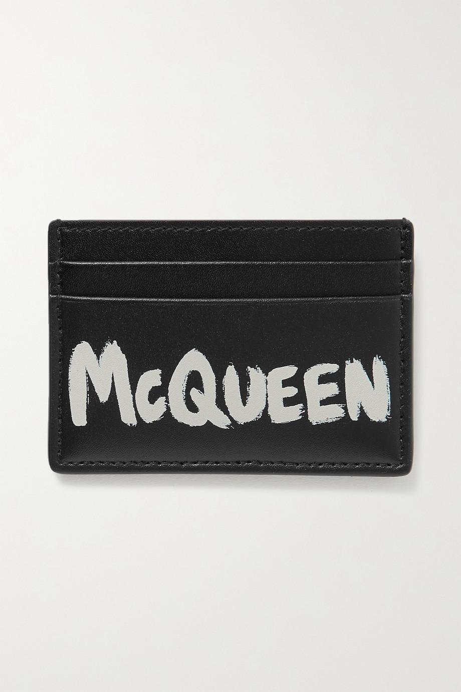 Alexander McQueen Porte-cartes en cuir imprimé