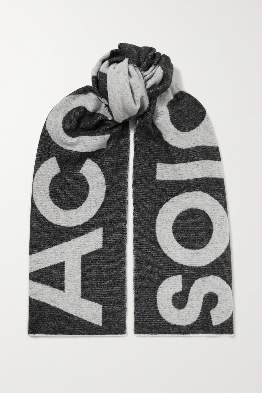 Acne Studios Écharpe en laine mélangée intarsia