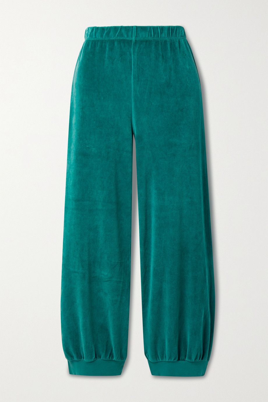 Suzie Kondi Cropped cotton-blend velour track pants