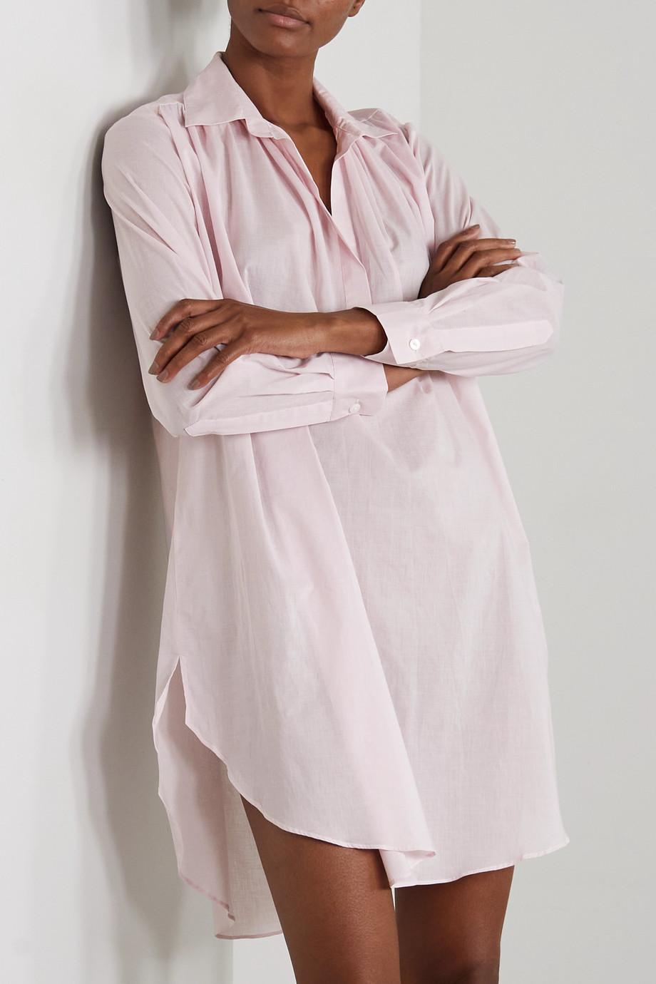 Pour Les Femmes Romeo Nachthemd aus Baumwoll-Voile