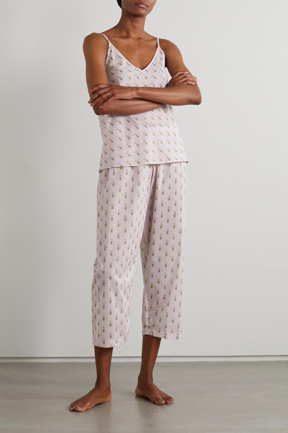 Pour Les Femmes Queen Bee Pyjama aus bedrucktem Baumwoll-Voile
