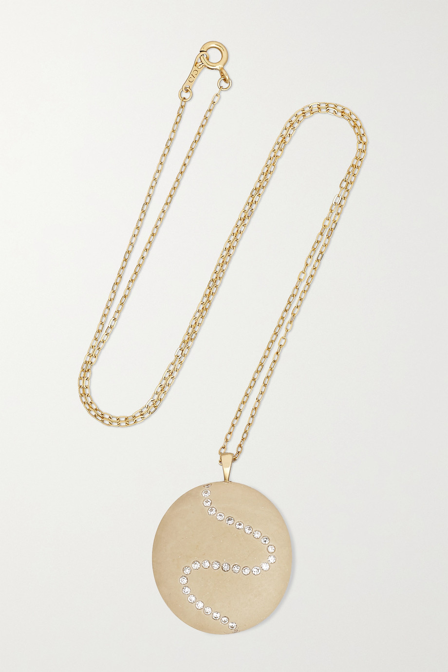 CVC Stones Beata 18-karat gold, stone and diamond necklace