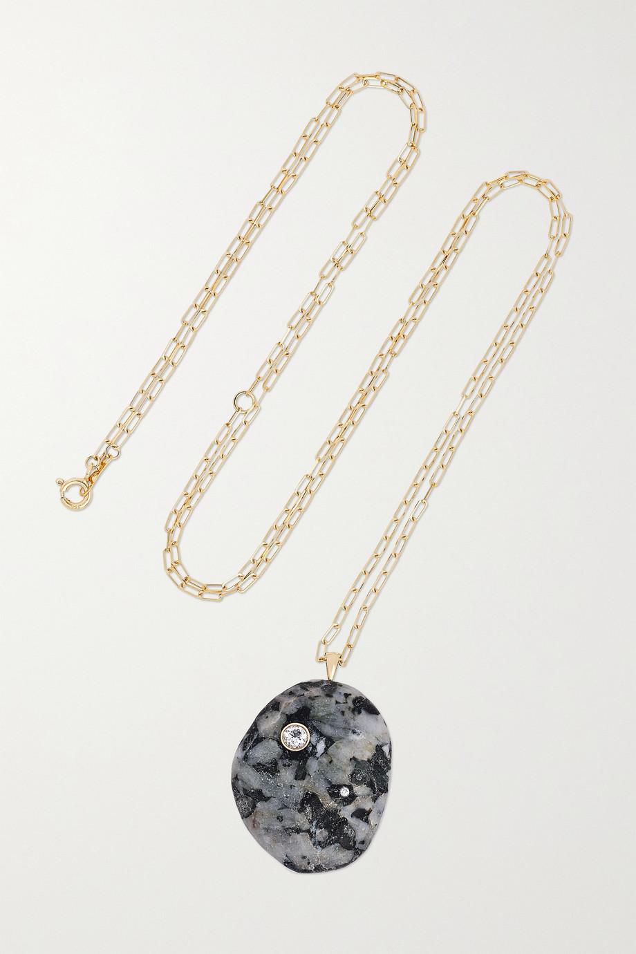 CVC Stones Nuit 18-karat gold, stone and diamond necklace