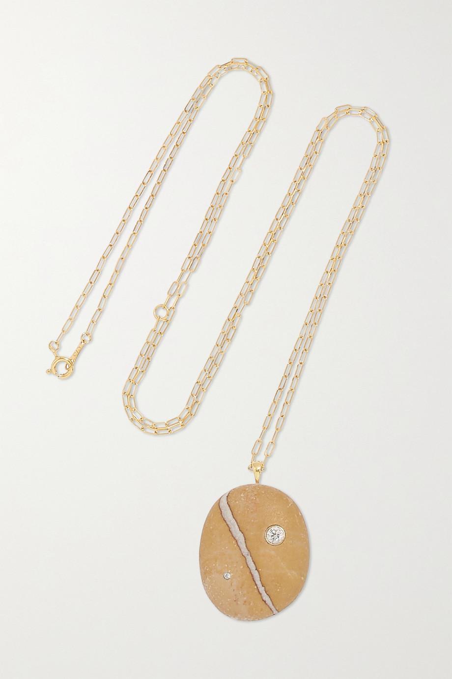 CVC Stones Toasty 18-karat gold, stone and diamond necklace