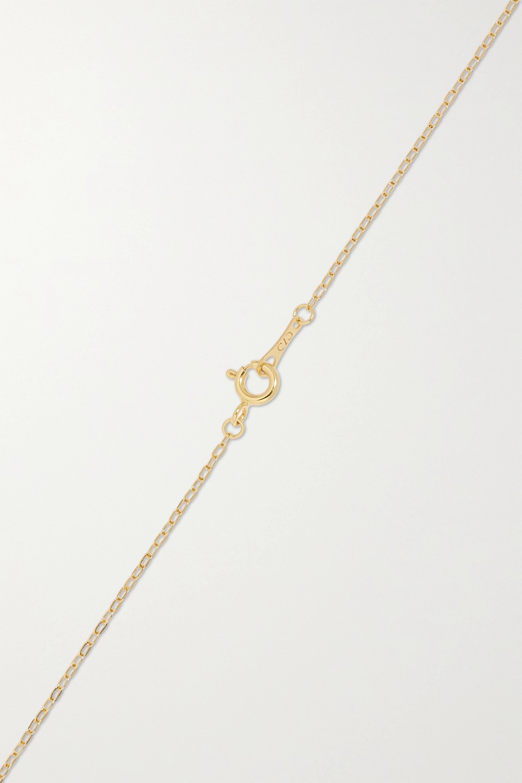 CVC Stones Midnight Kette aus 18 Karat Gold mit Kieselstein und Diamanten