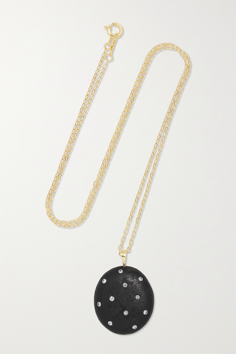 CVC Stones Collier en or 18 carats, pierre et diamants Midnight