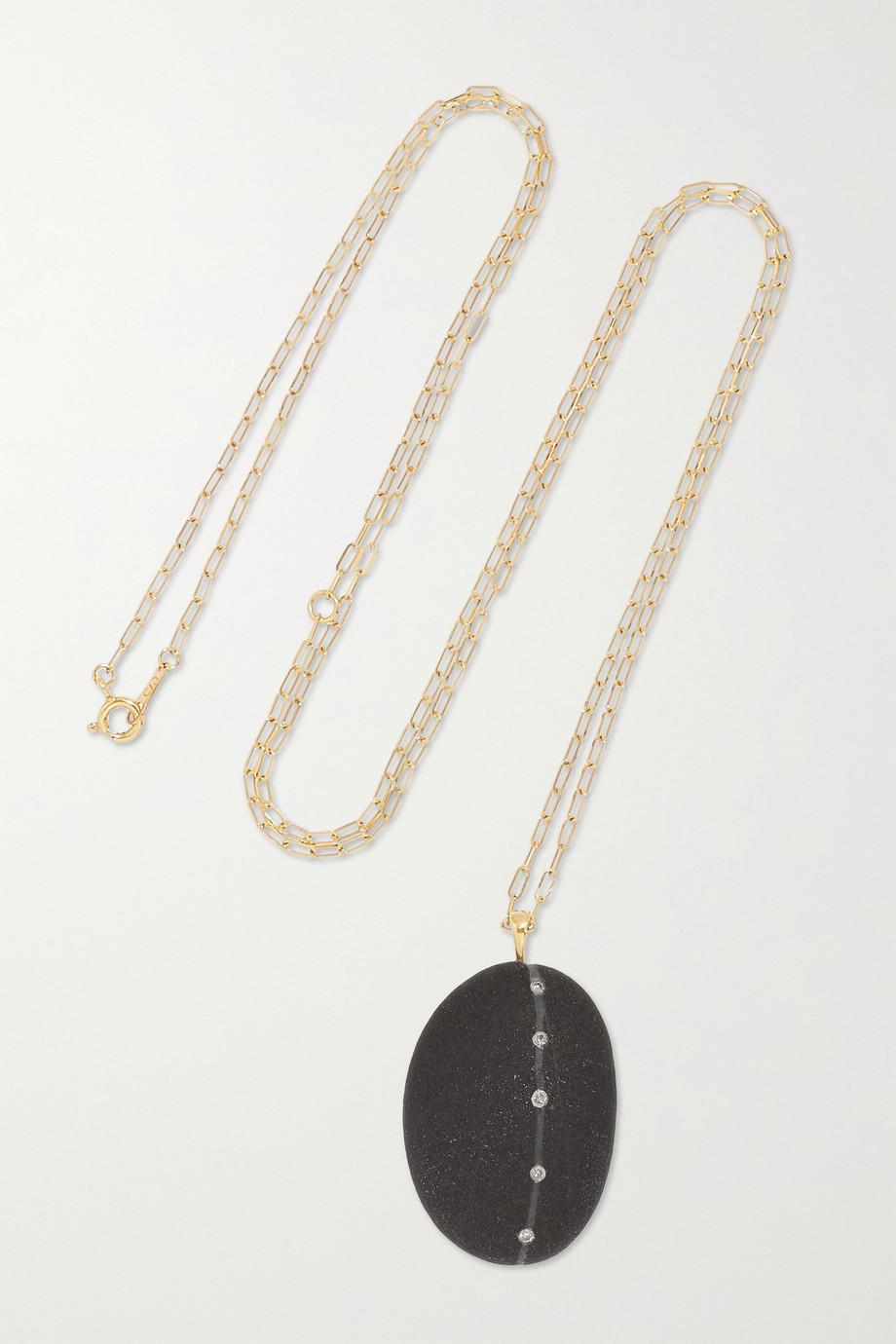 CVC Stones Collier en or 18 carats, galet et diamants Daegan