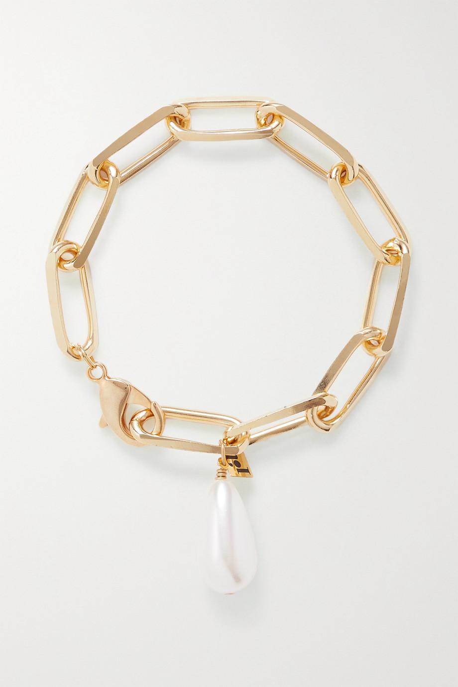 Rosantica Bracelet en métal doré et perle synthétique Promessa