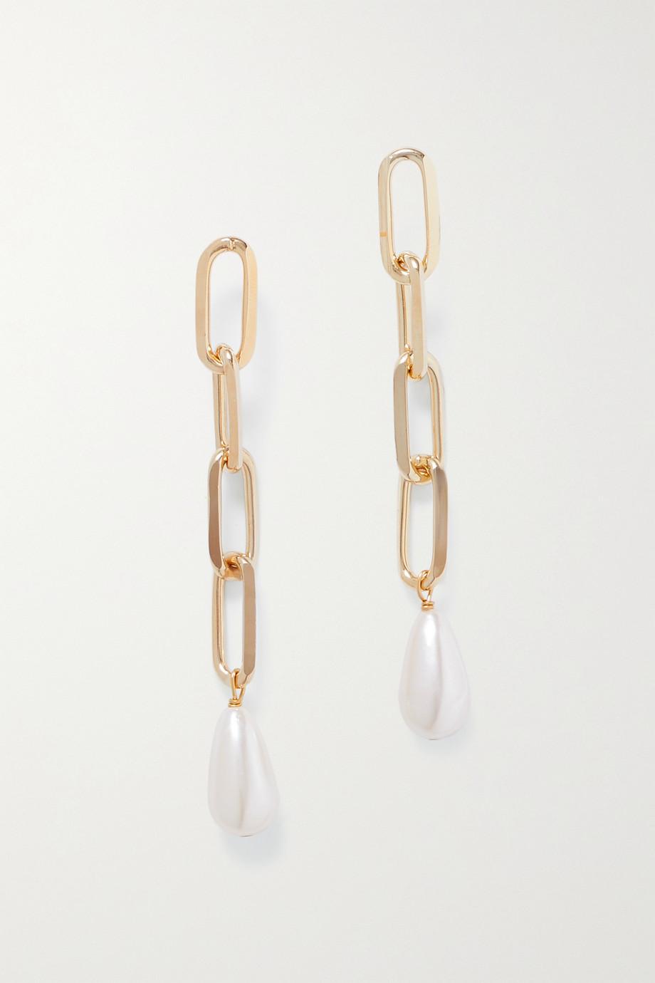 Rosantica Promessa goldfarbene Ohrringe mit Kunstperlen