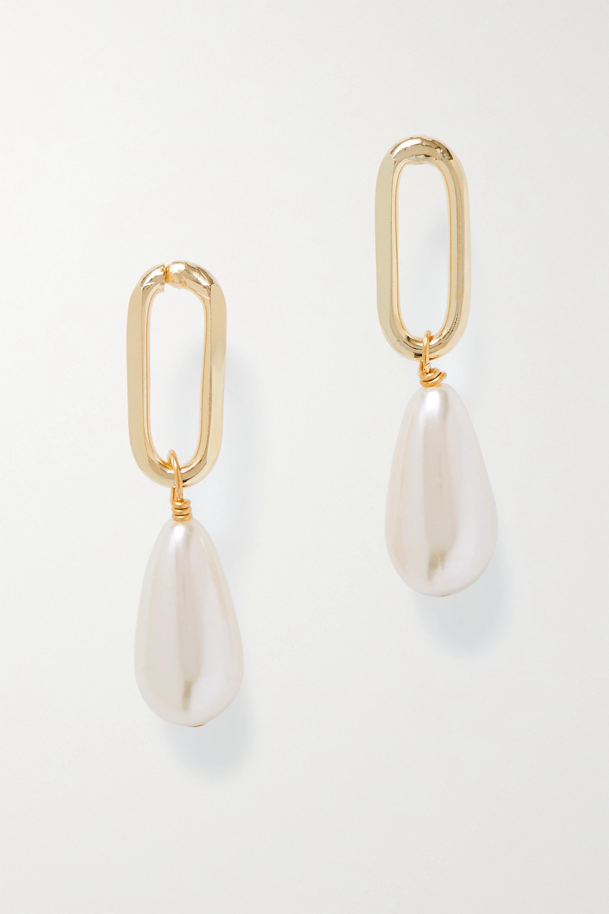Rosantica Boucles d'oreilles en métal doré et perles synthétiques Promessa