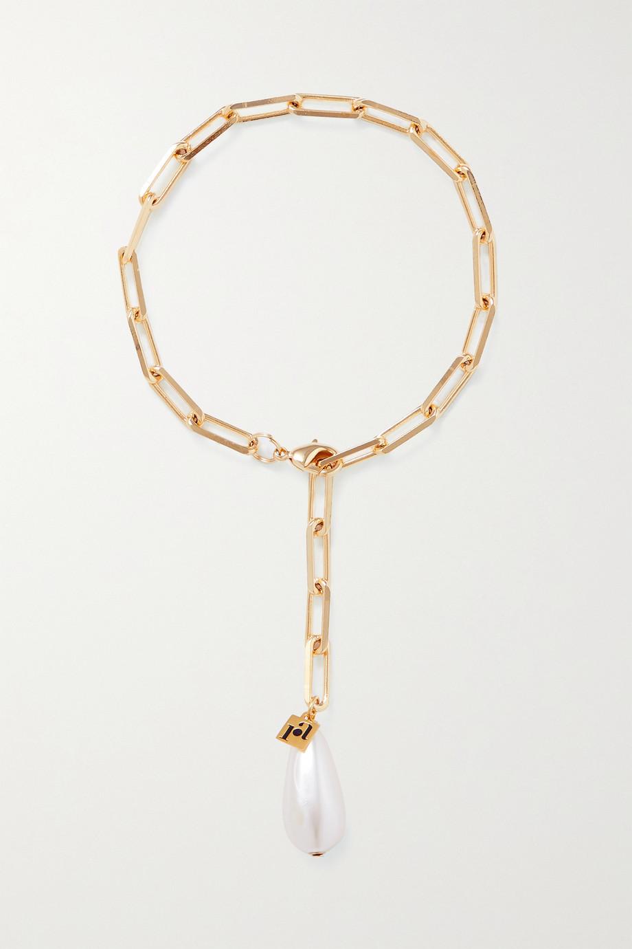 Rosantica Promessa gold-tone faux pearl anklet