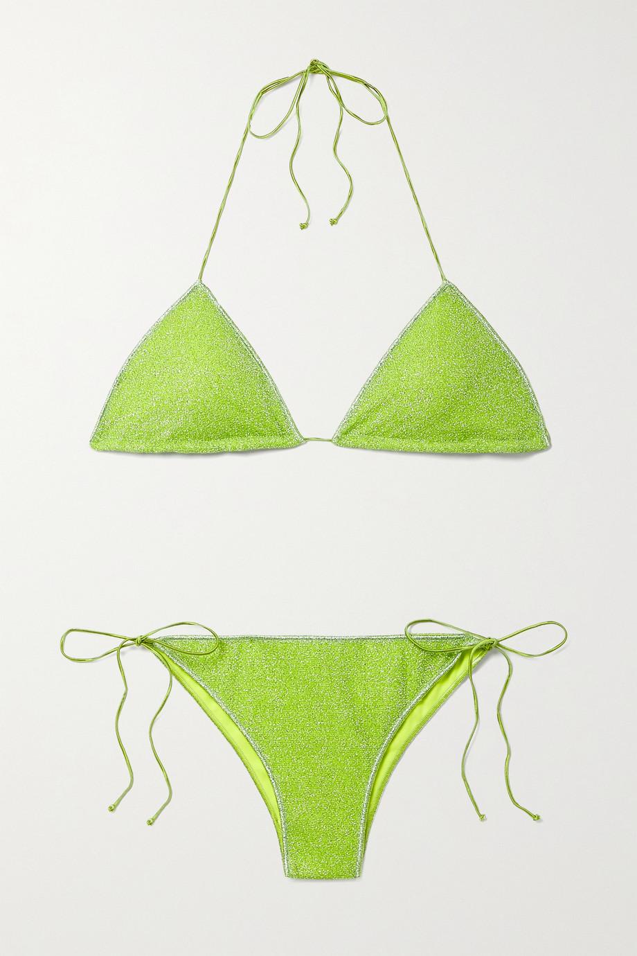 Oséree Lumière Triangel-Bikini aus Stretch-Lurex®