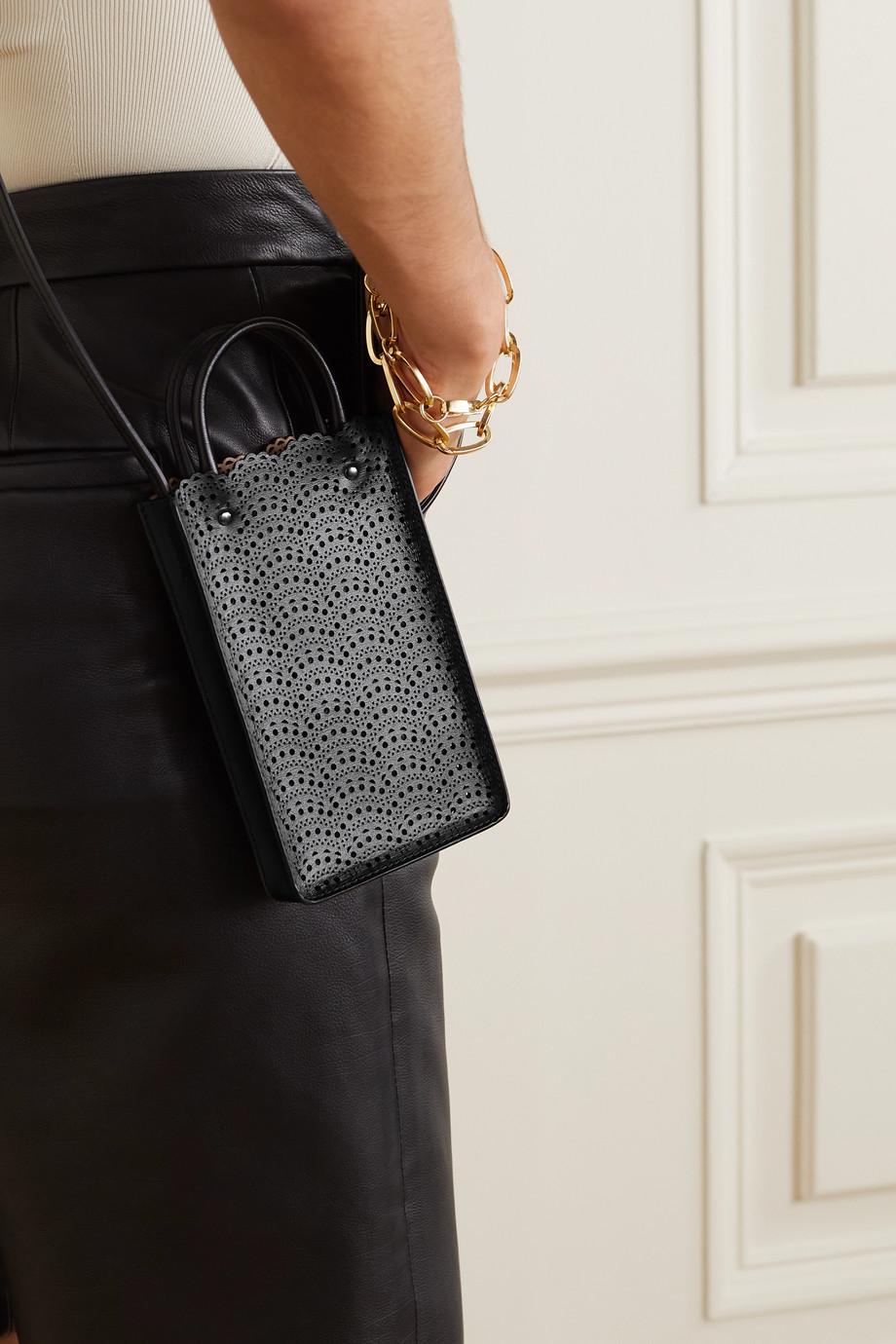 Alaïa Garance laser-cut leather shoulder bag