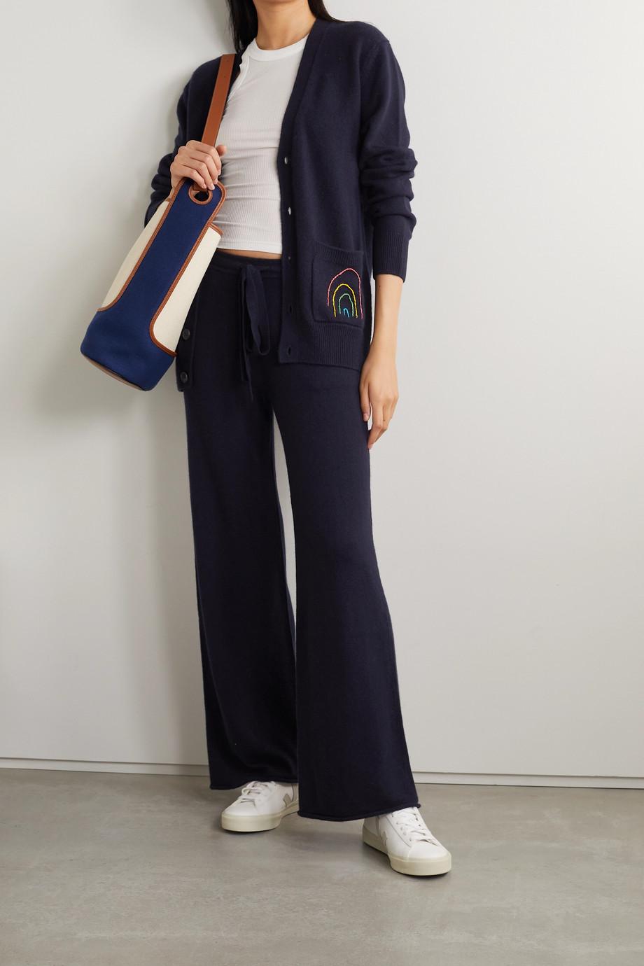 Lingua Franca Cashmere wide-leg pants