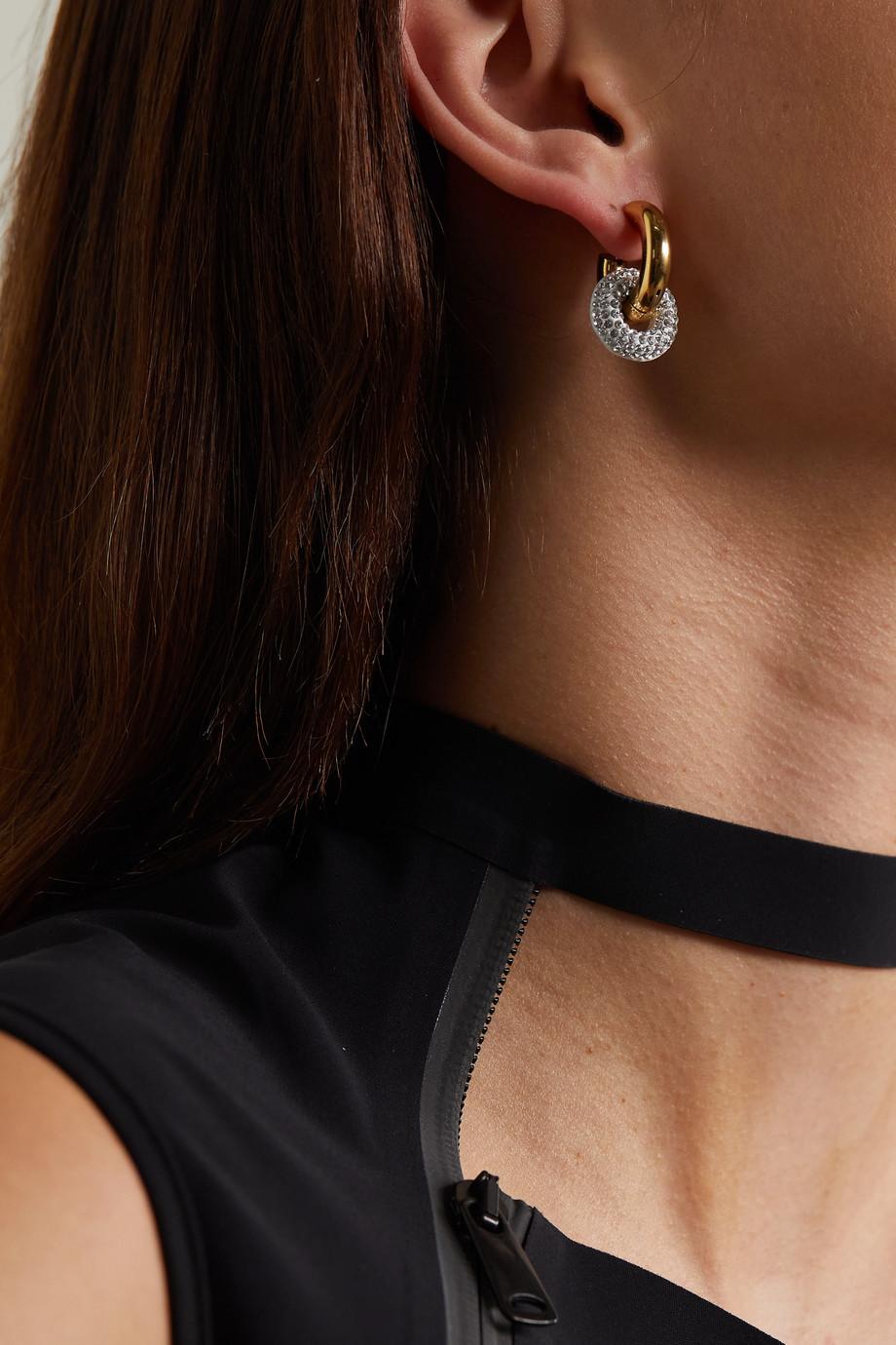 Timeless Pearly Boucles d'oreilles en plaqué or et cristaux