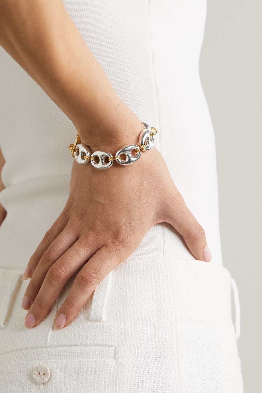 Timeless Pearly Bracelet en métal doré et argenté