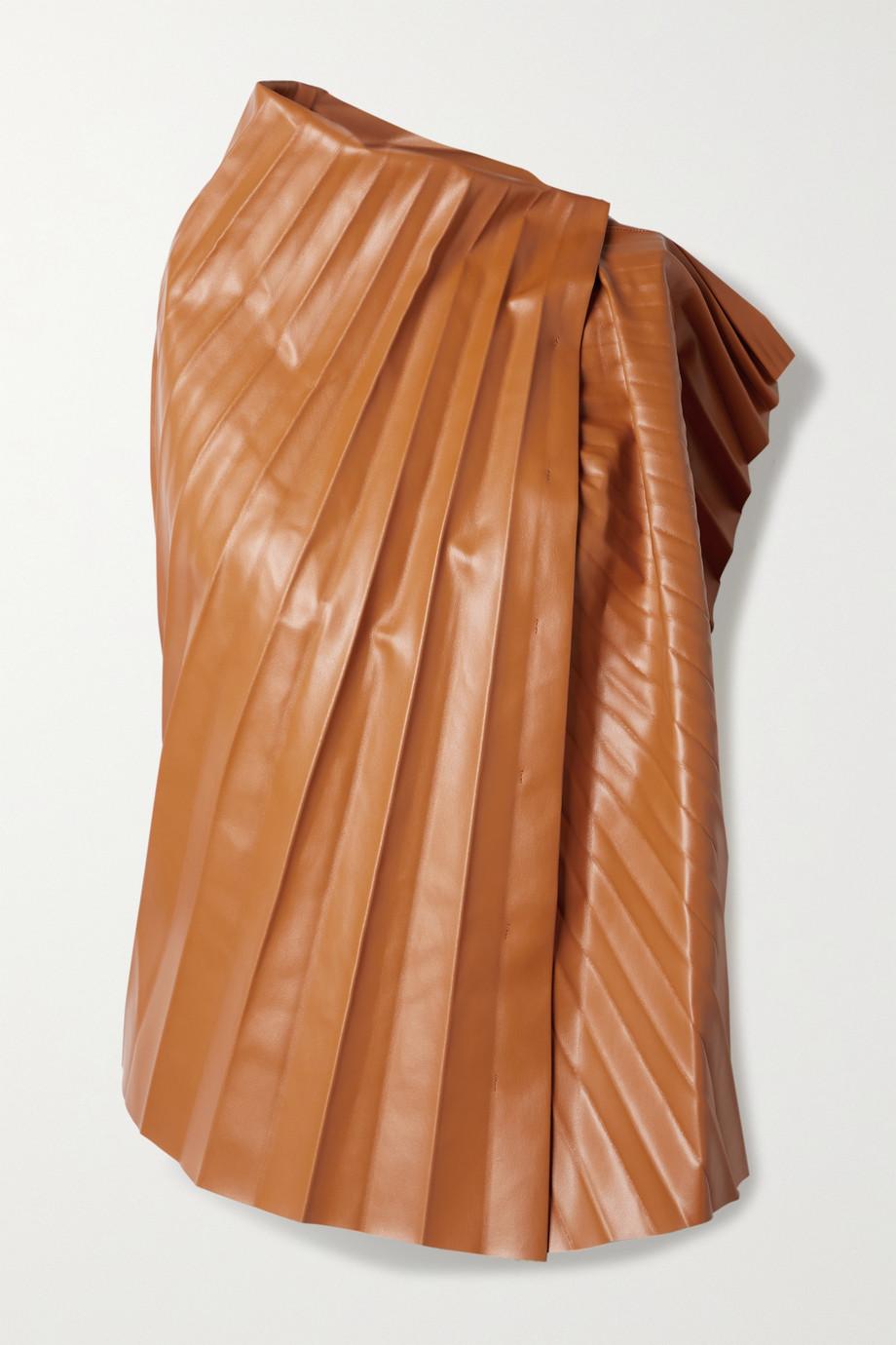 A.W.A.K.E. MODE Haut en cuir synthétique plissé